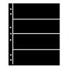 Single Sided Black Hagner Stock Pages.. 4 Rows-  60mm high