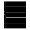 Single Sided Black Hagner Stock Pages. 5 Rows-  47mm high