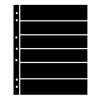 Single Sided Black Hagner Stock Pages. 6 Rows-  38mm high