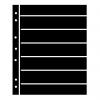 Single Sided Black Hagner Stock Pages. 7 Rows-  32mm high