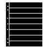 Single Sided Black Hagner Stock Pages. 8 Rows-  28mm high
