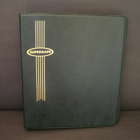 Standard 3 Ring Binder with Black Cover for Hagner Stocksheets