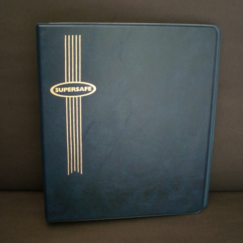 Standard 3 Ring Binder with Blue Cover for Hagner Stocksheets