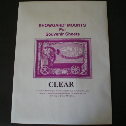 Clear Showgard Mounts Large Strip Assortment No. 76 Thru No. 171 (12)...
