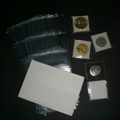 2 x 2 Vinyl Flips Bulk Package of 1000 with paper inserts. The traditional soft