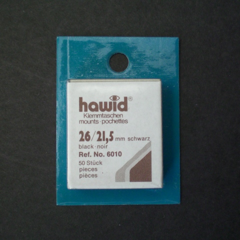 Black Hawid Mounts for U.S. Definitives-Horizontal(50)