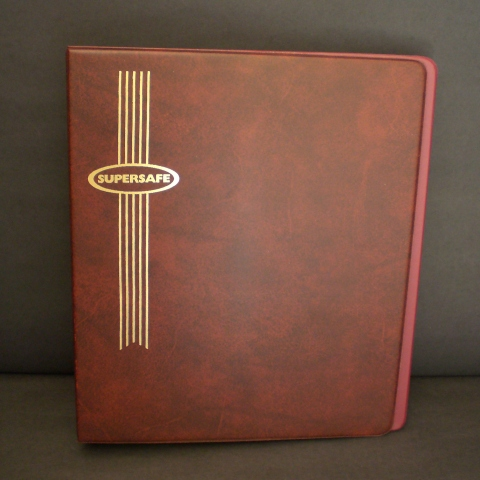 Standard 3 Ring Binder with Red Cover for Hagner Stocksheets